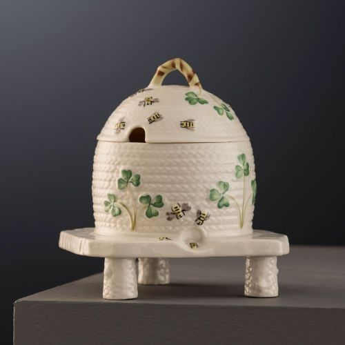 Belleek Masterpiece Collection - Shamrock Honey Pot
